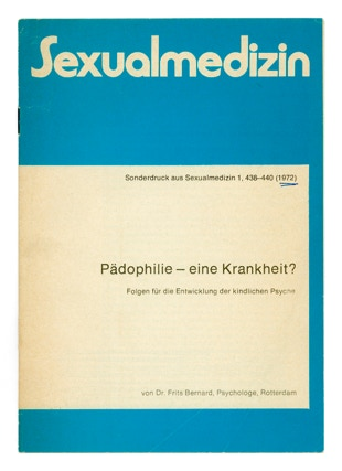 Booklet of Herbert Stattler's reserve shelf, a collection of sex education books and related literature since 1904.